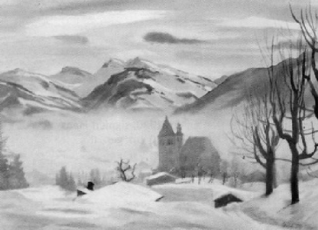 kitzbühel im winter by erich miller von hauenfels