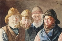 four fishermen from harboøre by wenzel ulrik tornoe