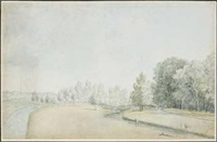 paysage animé avec un canal by alexis nicolas perignon the elder