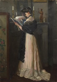 portrait of a lady by henry r. rittenberg