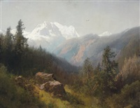 snowcaps by hermann herzog