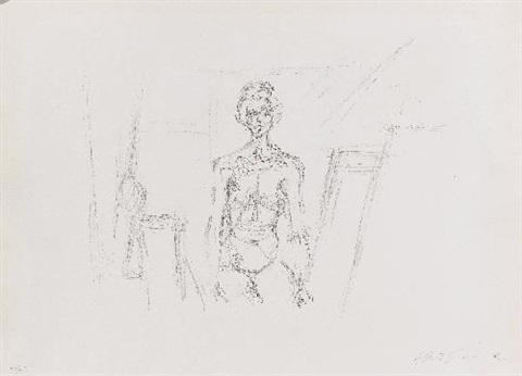 nu assis by alberto giacometti