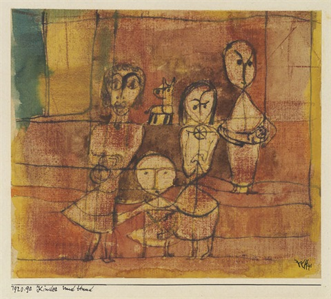 kinder und hund by paul klee