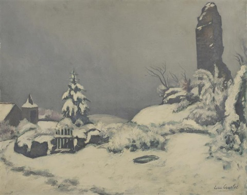 village sous la neige by louis charlot
