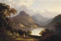 loch leven castle by julius caesar ibbetson
