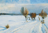 winter in elbing by paul emil gabel