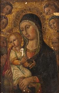 madonna mit dem christusknaben by sano di pietro