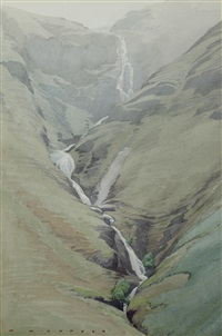 a hillside stream by william heaton cooper