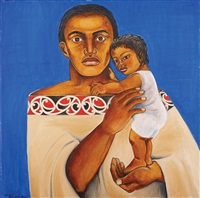father and child by robyn kahukiwa