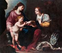 alexandriai szent katalin misztikus eljegyzése by simone pignoni