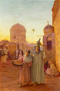 orientalische strassenszene by otto pilny