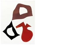 a collection of 16 (16 works, various sizes) by hans arp