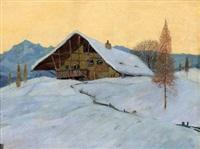 almwirtschaft im winter by karl kasberger