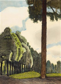 evergreen by ernest leonard blumenschein