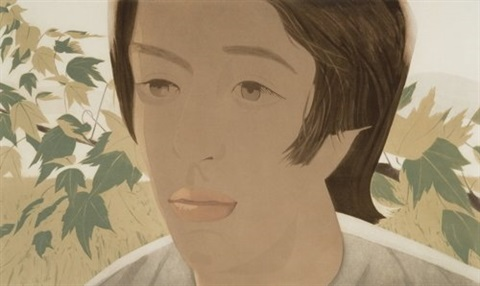 boy with branch ii by alex katz