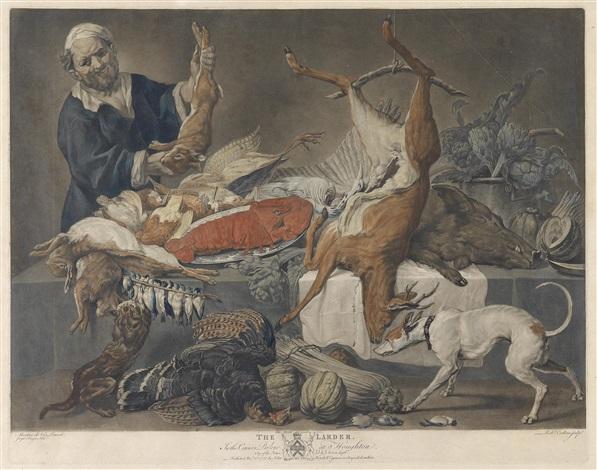 the larder die vorratskammer after marten de vos 2 others 3 works by richard earlom