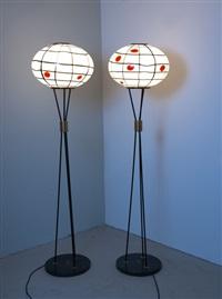 stehleuchten (pair) by avem (arte vetraria muranese)