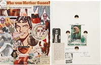 collages for elton john's birthday (2 works) by yoko ono and john lennon