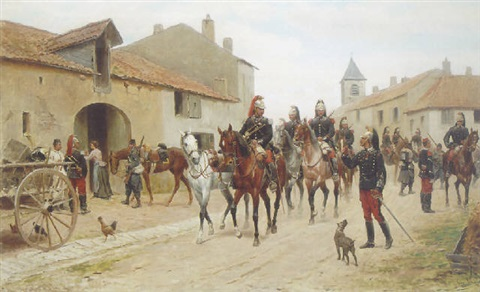 returning from the reconnaissance by jules antoine voirin