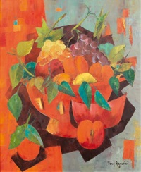 la coupe de fruits-composition en rouge by tony agostini