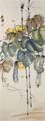 gourds and insects by qi baishi