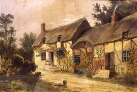 ann hathaways cottage by samuel bough