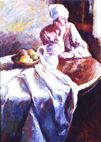 mujer en la mesa by joan beltrán bofill