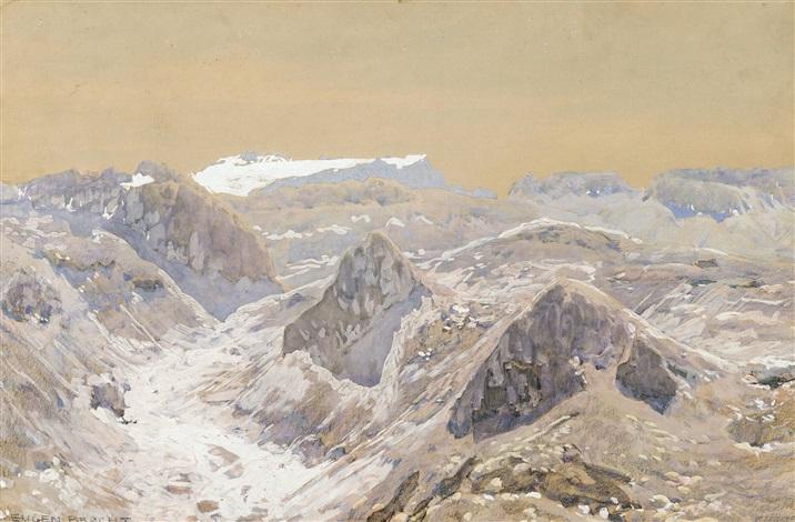 glacier en suisse by eugen felix prosper bracht