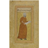 portrait of mirza-muhammad, son of qabahat by abd al-aziz