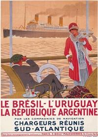 la brésil - l'uruguay, la république argentine by sandy (georges taboureau) hook