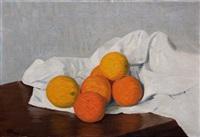 stillleben mit orangen by hans emmenegger