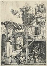 die geburt christi (after dürer) by hieronymus hopfer