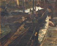 bateaux au port by pilar arenas