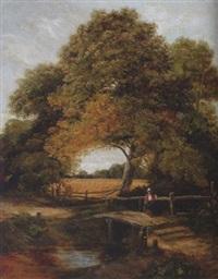 woman on bridge by c. austin