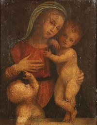 the madonna and child with the infant saint john the baptist by girolamo del pacchia
