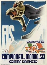 campionati del mondo di sci, cortina by franz lenhart