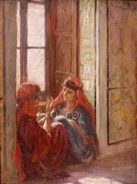 causerie dans un palais de la médina de tunis by albert aublet