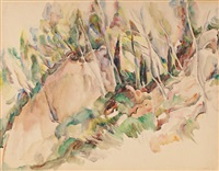 les rochers by abram adolphe milich