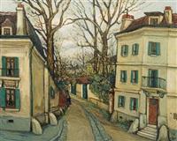 rue à montmartre by alphonse léon quizet