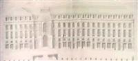 elevation d'un cote de la place l'hotel           de ville de rennes by jacques de gabriel
