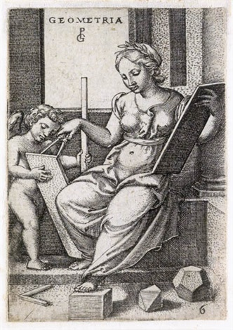 dialectica geometria astrologia 3 works from seven liberal arts by georg pencz