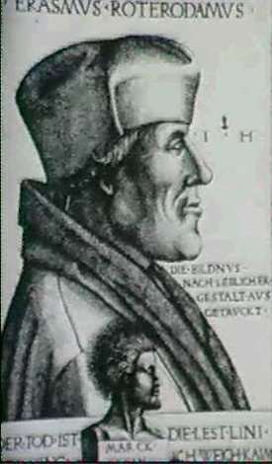 portrait erasmus von rotterdam by hieronymus hopfer