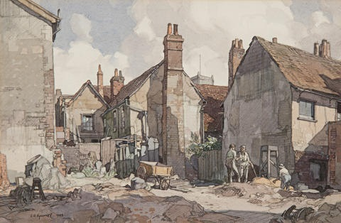 backs near lords yard fore street ipswich by leonard russel squirrell