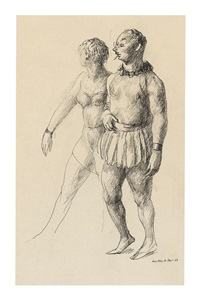 Man and Woman at the Masquerade, 1938