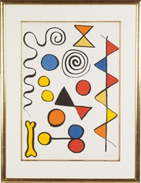 composition with dog bone by alexander calder