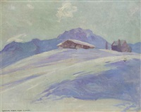 winterlandschaft arosa by carl august liner
