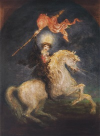 feltámadás - petofi lovon (resurrection - petofi on horseback) by viktor madarász