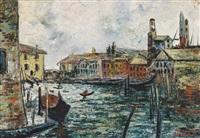 kanal in venedig by ermenegildo agazzi
