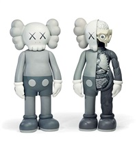 companion (grey) (two works) by kaws