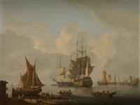 le départ du trois-mâts by dominique de bast